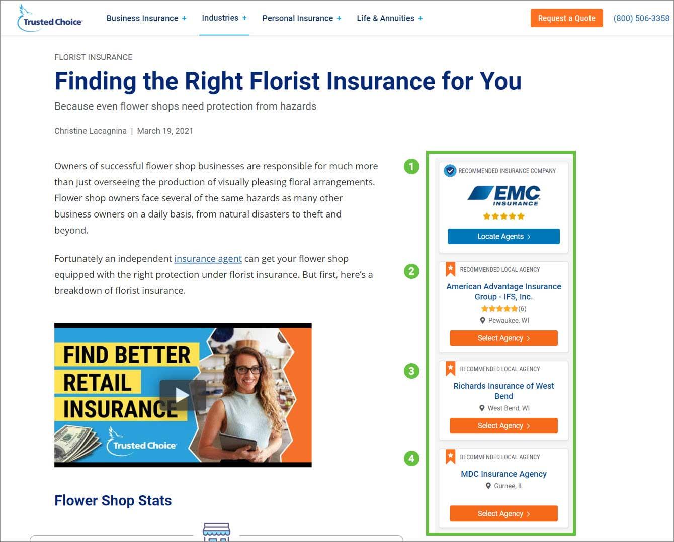Flower Shop Insurance Sponsored Content