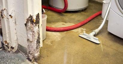 Sewage line busted