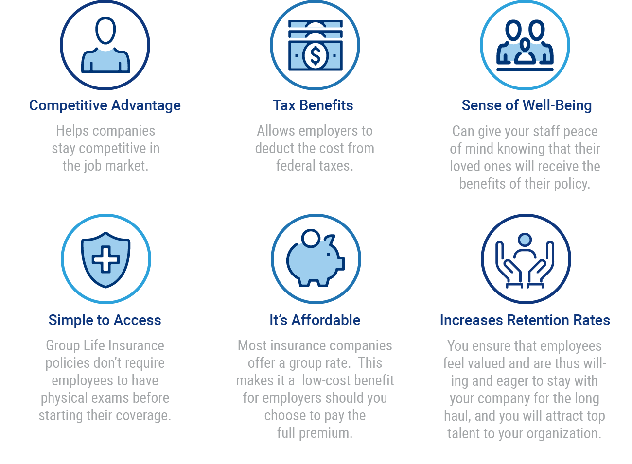 group life insurance benefits graphic