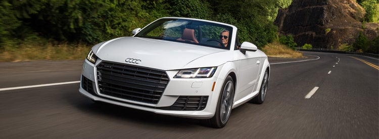 audi car on the road