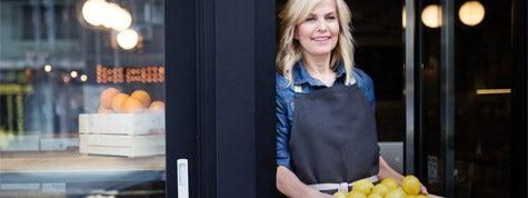 Woman starting a restaurant franchise