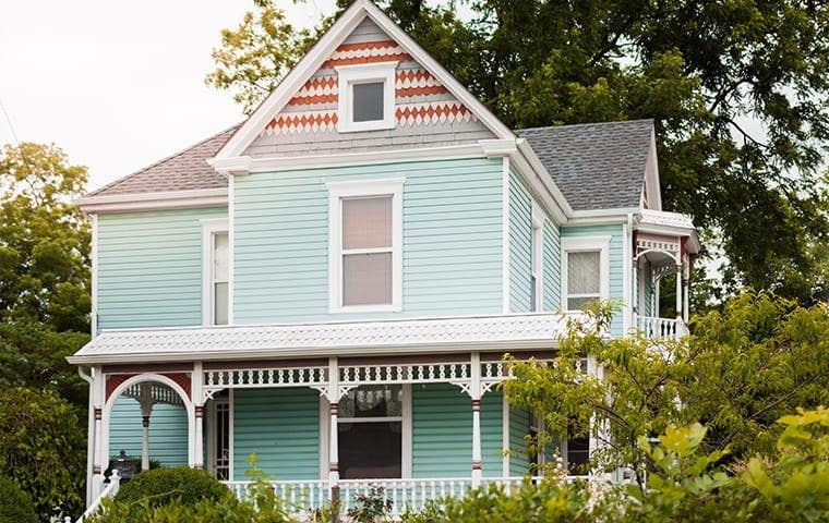 a mint green home