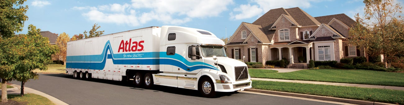 Atlas Truck in Front of Home - Relocation & Moving Services