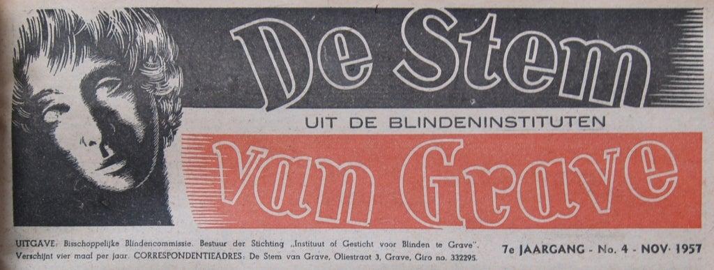 Uitgave van De Stem van Grave uit 1957, 7e jaargang.