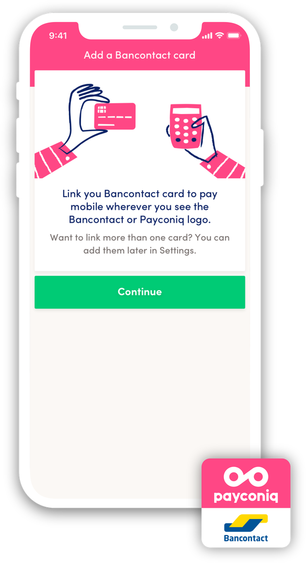 How do I get started with the Payconiq by Bancontact app?