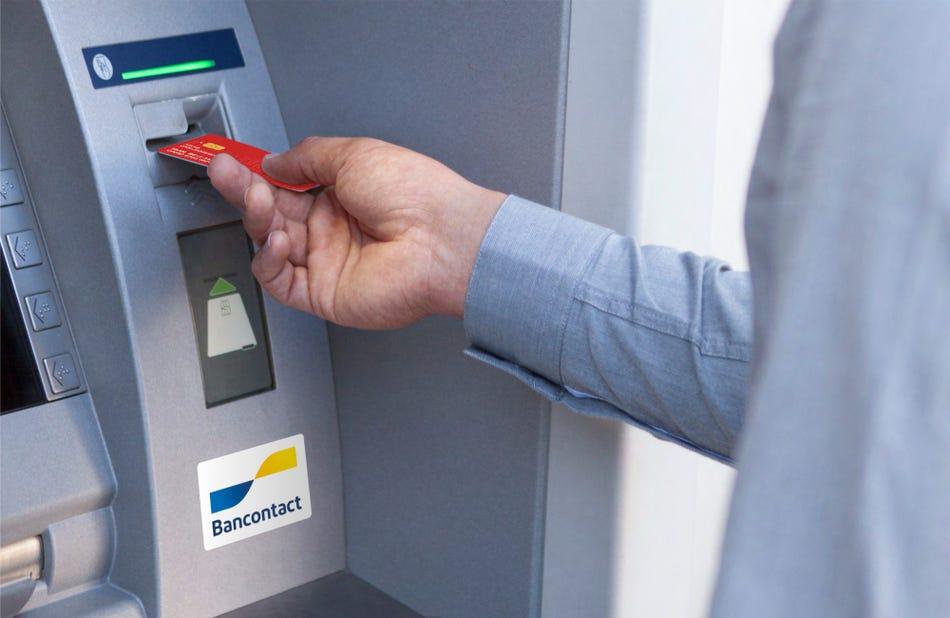 Geldautomaat van een bank