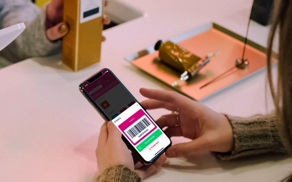 Bewaar klantenkaarten in de app