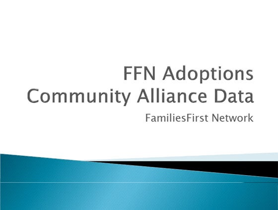 FFN Adoptions Community Alliance Data