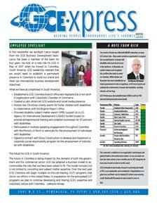 GCE Newsletter Winter 2018 homepage