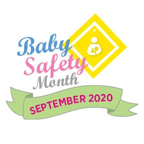 Graphic for Baby Safety Month 2020.