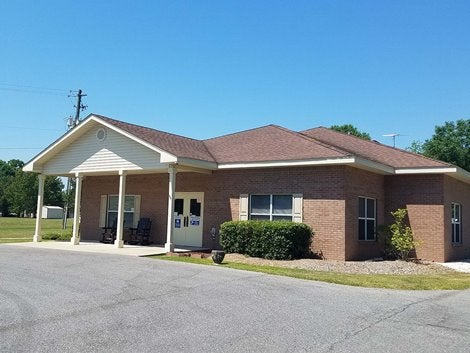 Pictured is the building for Lakeview Center Century Clinic located in Century Florida.