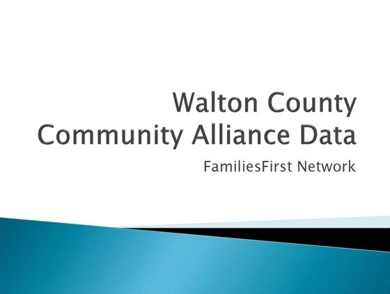 Walton County Community Alliance Data