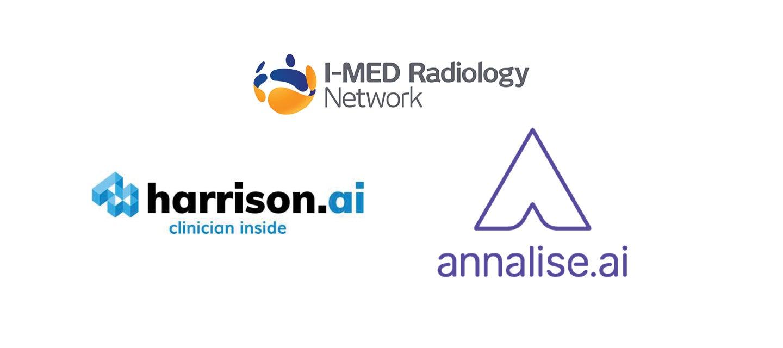 I-MED, Harrison.Ai and Annalise.Ai logos