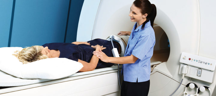 Patient having a MRI scan