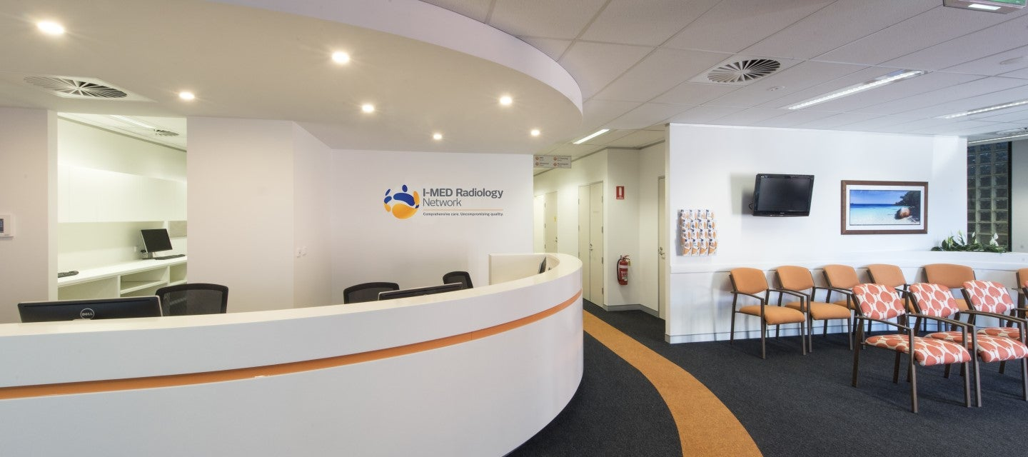 Image of I-MED reception desk