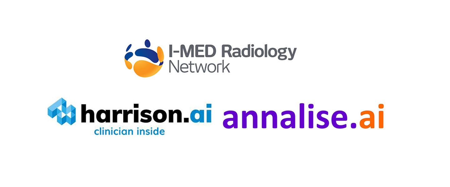 I-MED Radiology, harrison.ai and annalise.ai logos