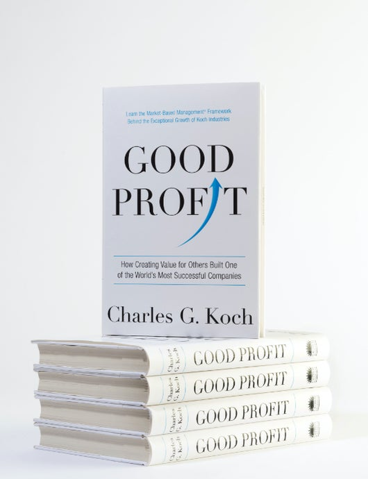 A stack of Good Profit books