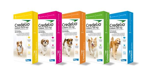 Credelio trata tanto a razas pequeñas como grandes, y viene en varias presentaciones
