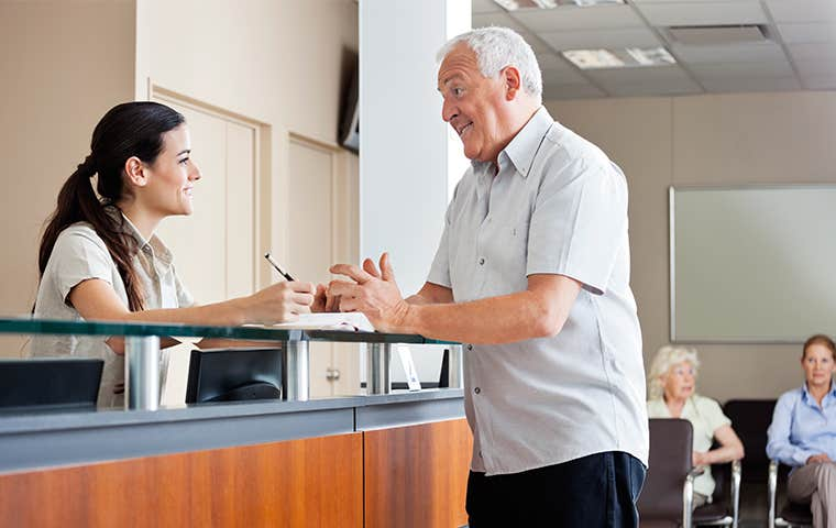 a receptionist at a clinic