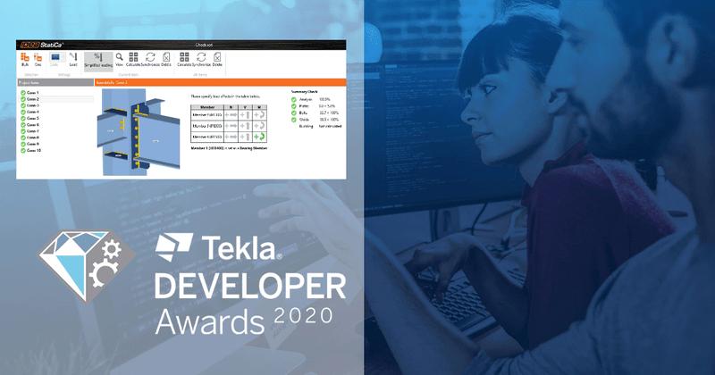 IDEA StatiCa Checkbot competing for Tekla BIM Awards 2020