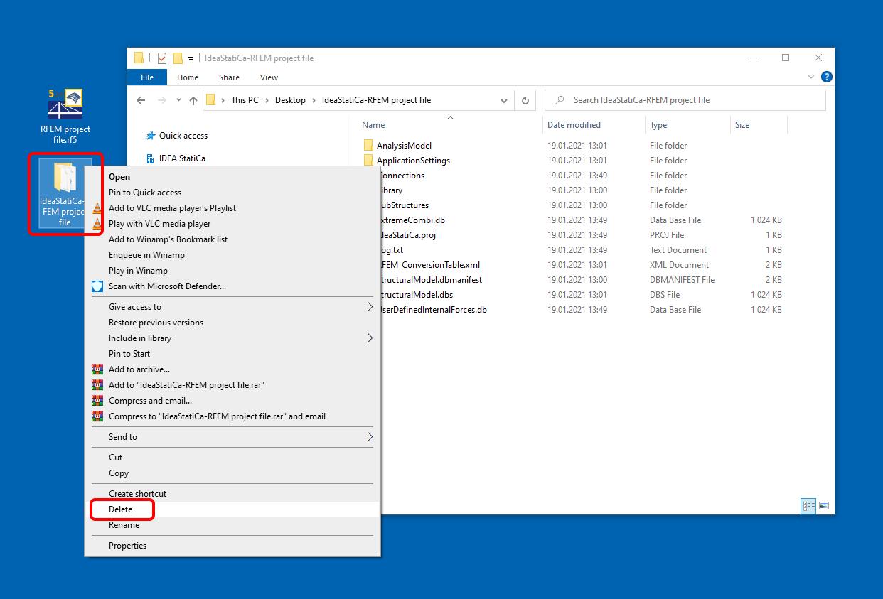CODE CHECK MANAGER Import folder verwijderen