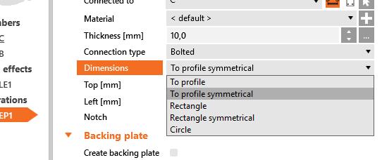 profiel symetrisch kopplaat invoeren IDEA CONNECTION