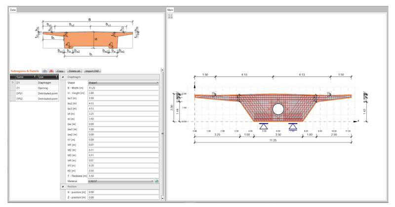 Parametric templates of bridge diaphragms