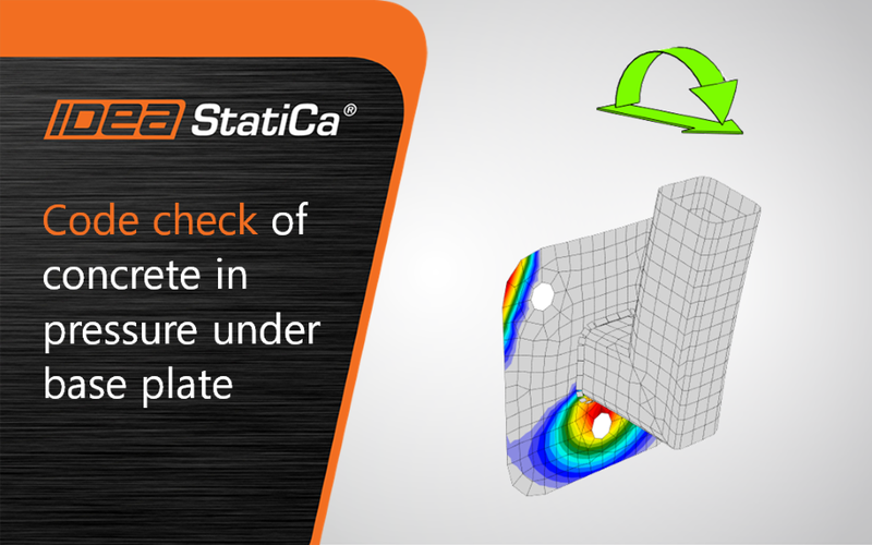 Code-check of concrete in pressure under the base plate