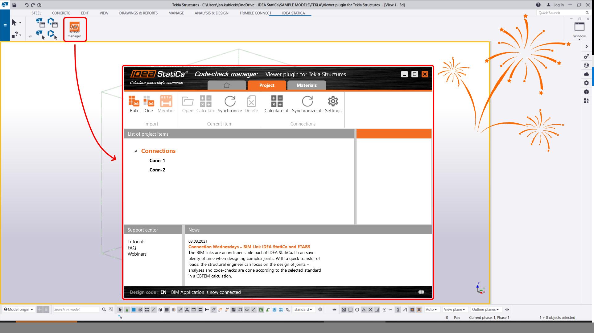 Nu kunnen we onze nieuw toegevoegde IDEA Code-check manager applicatie testen.