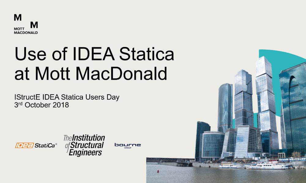 Use of IDEA StatiCa at Mott MacDonald