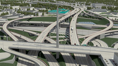 394-foot (120-meter) St-Jacques street overpass, Montreal, Canada