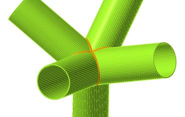 Connessioni tubolari 3D