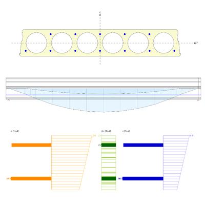 Pretensioned hollow-core beam