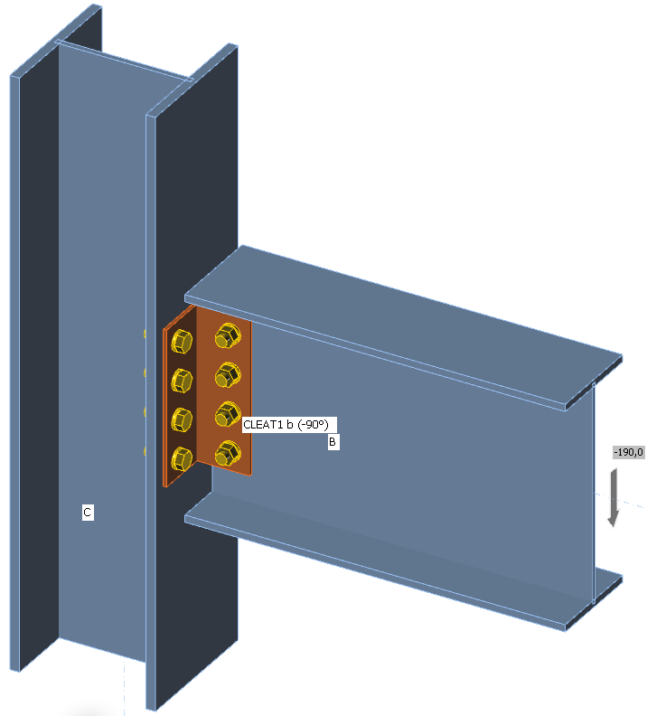 Double angle cleat connection