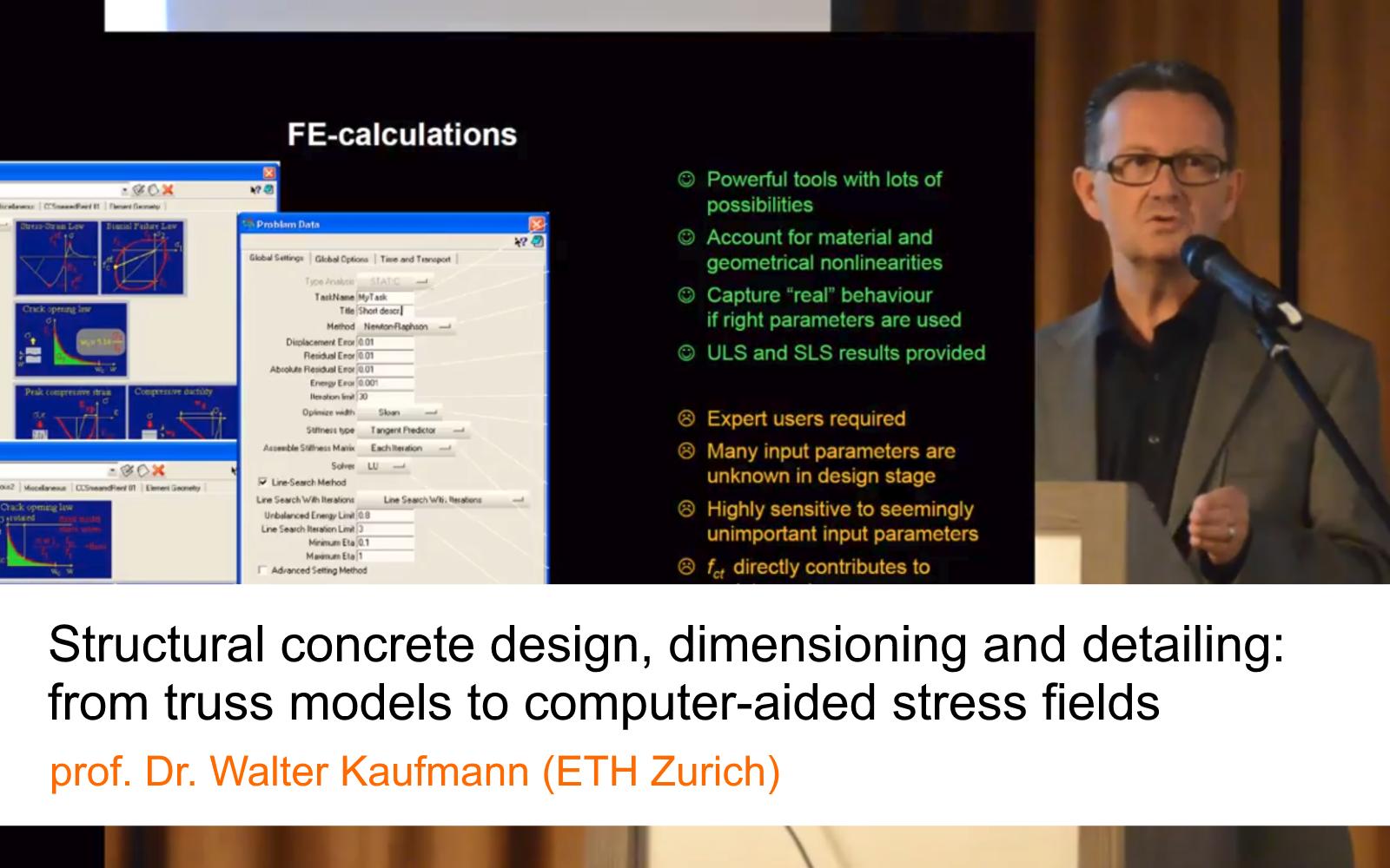 Prof. Kaufmann's lecture on IDEA StatiCa Detail