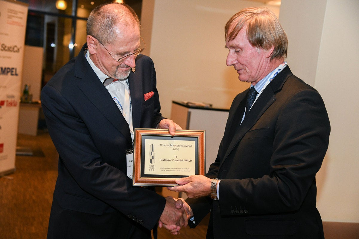 Prof. Frantisek Wald received the Charles Massonnet Award