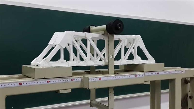 Paper bridge test