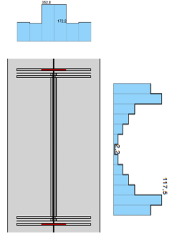 spanningdiagram vloeien van de las in IDEA CONNECTION