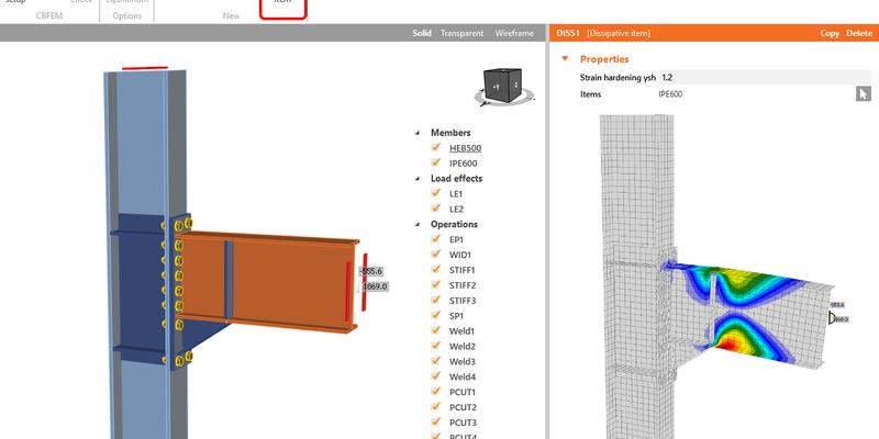 Capacity design – seismic analysis in IDEA StatiCa Connection XXX