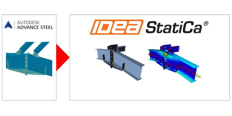 Export any steel joint from Advance Steel to IDEA StatiCa XXX