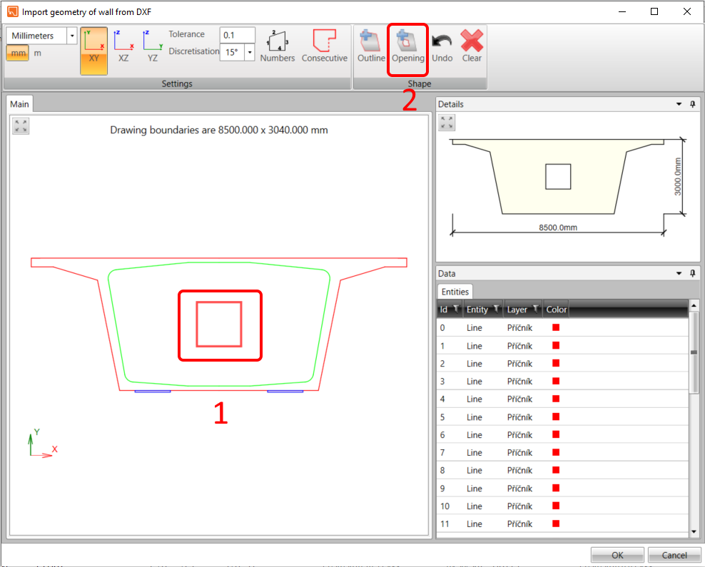 Bridge diaphragm - Geometry