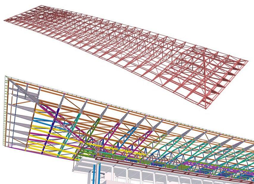 Curragh Racecourse roof - Tekla