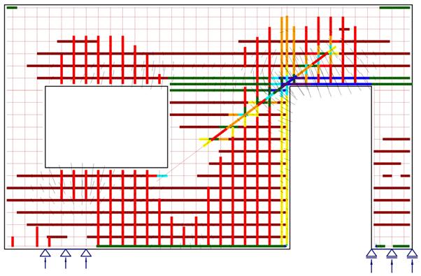 scheuren in betonwand berekenen met IDEA Detail