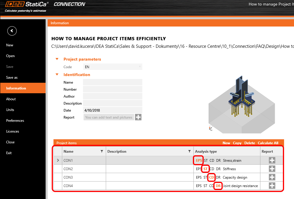 How to manage project items efficiently