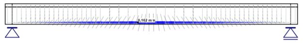 scheuren van een betonbalk berekenen met IDEA Beam