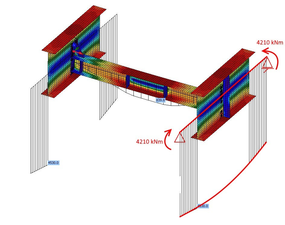 Fig. 06 Bending moments in the Member application