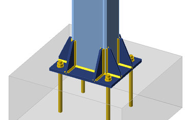 Column base plate connections