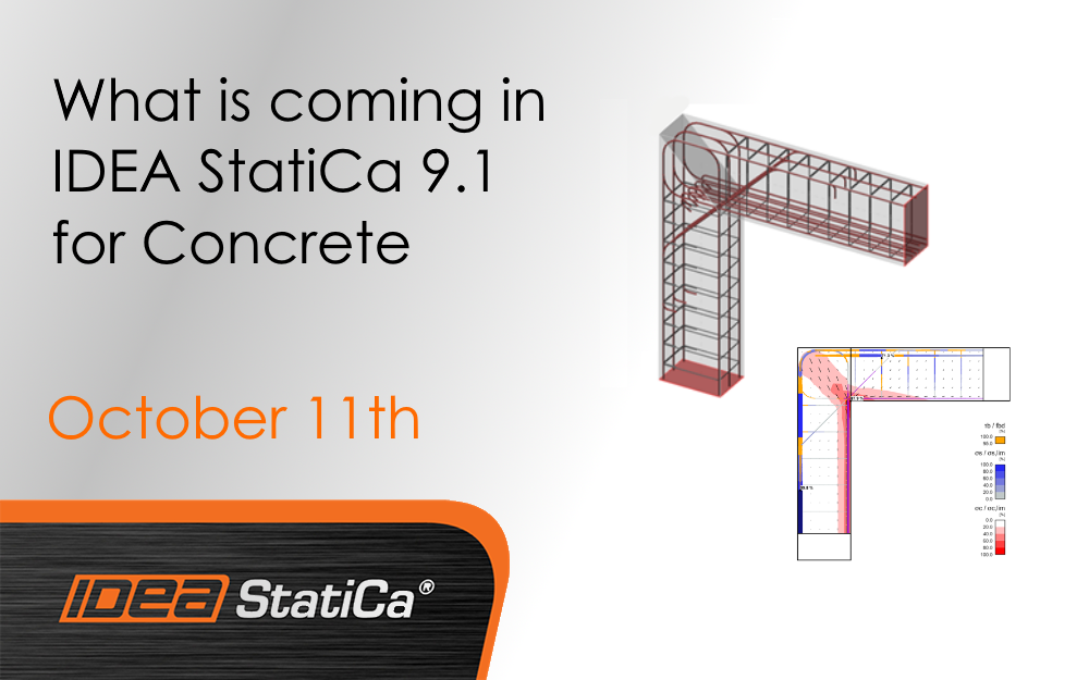 What is coming in IDEA StatiCa 9.1 for Concrete