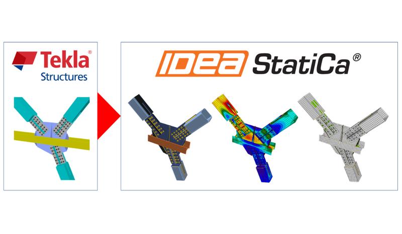 Exportujte ocelový styčník z Tekla Structures během pár vteřin