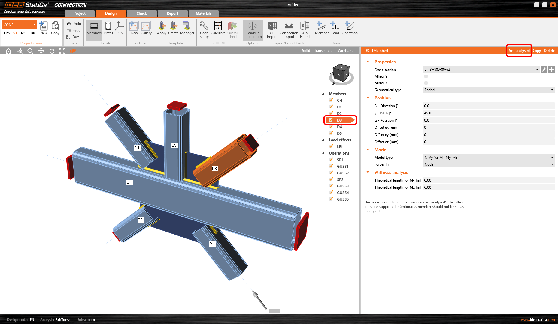 How to make stiffness analysis for complex joints efficiently